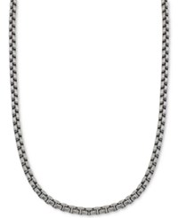 Esquire Men's Jewelry Large Box Link Chain In Stainless Steel First At Macy's