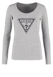 Guess Long Sleeved Top Gris Grey