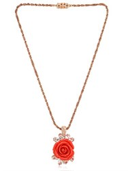 Mawi Rose And Crystal Pendant