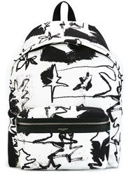 Saint Laurent 'City' Backpack White