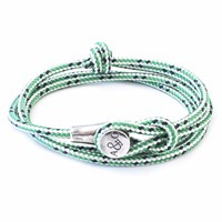 Anchor And Crew Green Dash Dundee Rope Bracelet