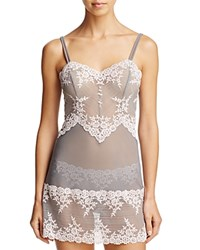 Wacoal Chemise Embrace Lace 814191 Frost Gray Primrose