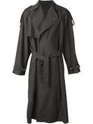 E. Tautz Double Breasted Trench Coat Brown