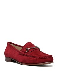 Sam Edelman Talia Suede Loafers Dark Red