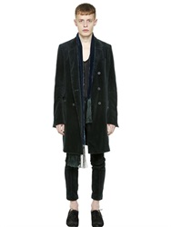 Haider Ackermann Double Breasted Cotton Corduroy Coat