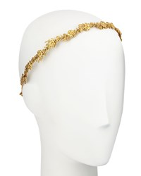 Jennifer Behr Arden Metal Bandeaux Headband Gold