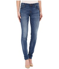 Kut From The Kloth Diana Skinny Jeans In Visualize W Medium Base Wash Visualize Medium Base Wash Women's Jeans Blue
