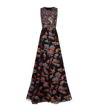 Andrew Gn Bead Top Sleeveless Gown Female Multi