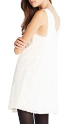 Women's Bcbgeneration Sequin Mesh And Crepe Shift Dress