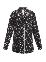 Dolce And Gabbana Polka Dot Print Silk Pyjama Shirt