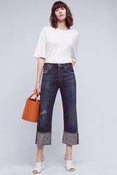 Anthropologie Citizens Of Humanity Parker Ultra High Rise Cuff Jeans Dark Denim