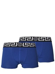 Versace 2 Pack Logo Stretch Jersey Boxer Briefs