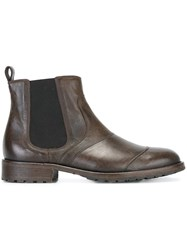 Belstaff Panelled Chelsea Boots Brown