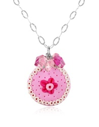 Dolci Gioie Sterling Silver Cake Charm Necklace