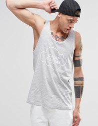 Cheap Monday Focus Vest Cloud Logo Grey Melange