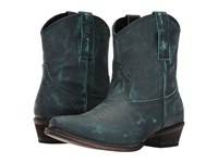 Roper Dusty Turquoise Rub Off Cowboy Boots Green