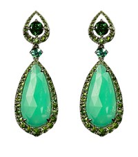 Annoushka Ooak White Gold Chrysoprase Earrings Female