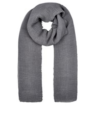 Accessorize Lola Ribbed Scarf Grey