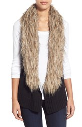 Women's Bb Dakota 'Sadi' Faux Fur Trim Knit Vest
