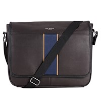 Ted Baker Webster Stripe Webbing Messenger Bag Chocolate