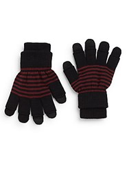 Rogue Layered Striped Gloves Black