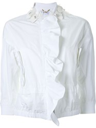 Muveil Embellished Collar Jacket White