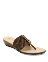 Andre Assous Nima Woven Demi Wedge Sandals Bronze