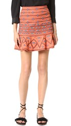Twelfth St. By Cynthia Vincent Flounce Skirt Ginger
