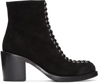 Mcq By Alexander Mcqueen Black Laced Clapton Boots
