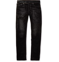 Balenciaga Slim Fit Velvet Jeans Black