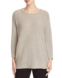 Eileen Fisher Crewneck Long Sweater Dark Pearl