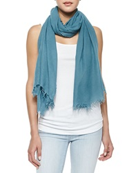 Vince Fringed Scarf In Seasonless Fabric Amalfi
