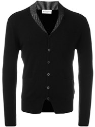Ballantyne V Neck Cardigan Black