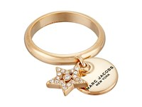 Marc Jacobs Mj Coin Charm Ring Crystal Gold Ring