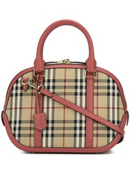Burberry House Check Tote Nude Neutrals