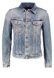Nudie Jeans Billy Denim Jacket Shimmering Indigo Blue Denim