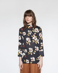 Marni Printed Silk Blouse Black