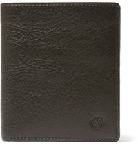 Mulberry Grained Leather Tri Fold Wallet Green