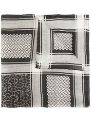 Givenchy Contrast Print Scarf Black