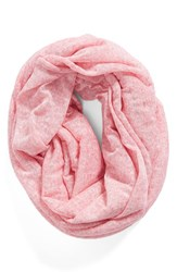 Women's Bcbgeneration Speckled Knit Infinity Scarf Pink