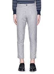 Nanamica Cropped Taffeta Wind Pants Grey