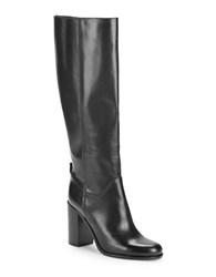 Kate Spade Baina Knee High Leather Riding Boots Black
