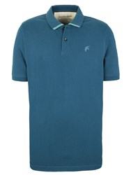 Racing Green Otley Tipped Pique Polo Shirt Blue