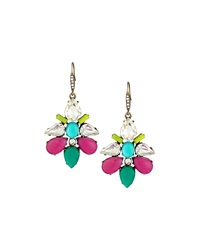 Lydell Nyc Multi Color Crystal Drop Earrings