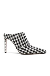 Altuzarra Canvas Davidson Mules In Black White Black White