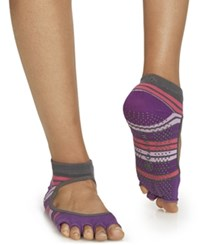Gaiam Bella Yoga Socks Purple Combo