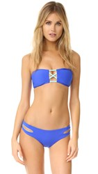L Space Color Block Jacques Bandeau Bikini Top Royal