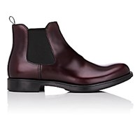 Prada Men's Plain Toe Chelsea Boots Burgundy
