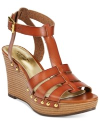 American Living Abaline Platform Wedge Sandals Brown