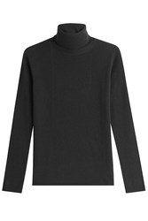 Max Mara Virgin Wool Turtleneck Pullover With Cashmere Black